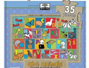 Green Start Giant Floor Puzzles: ABC Animals (35 Piece Floor Puzzles Made of 98% Recycled Materials)